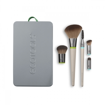 EcoTools Interchangeables Daily Essentials Total Face Kit makiyaj üçün fırça dəsti